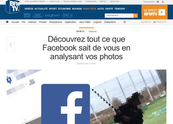 Facebook analyse vos photos de mariage